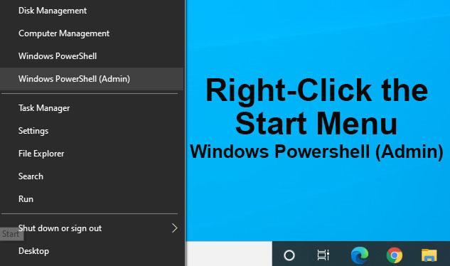 Launch Windows Powershell as Admin