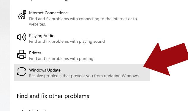 Windows 10 Update Troubleshoot