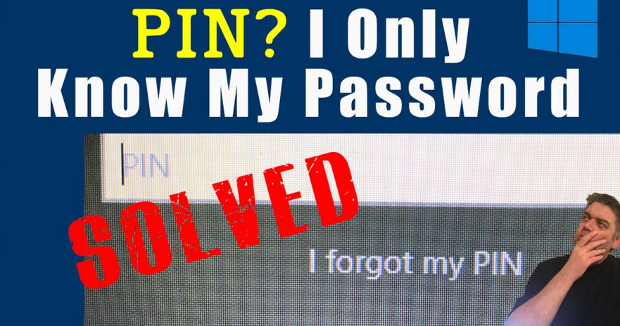 Dont know W10 PIN