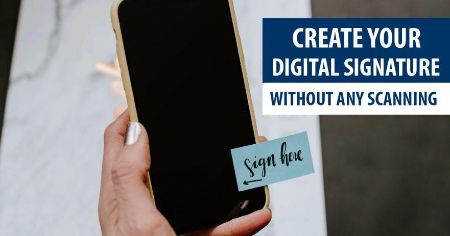 Create A Digital Signature Image File