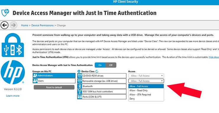 JITA to Allow Full Access HP Pro