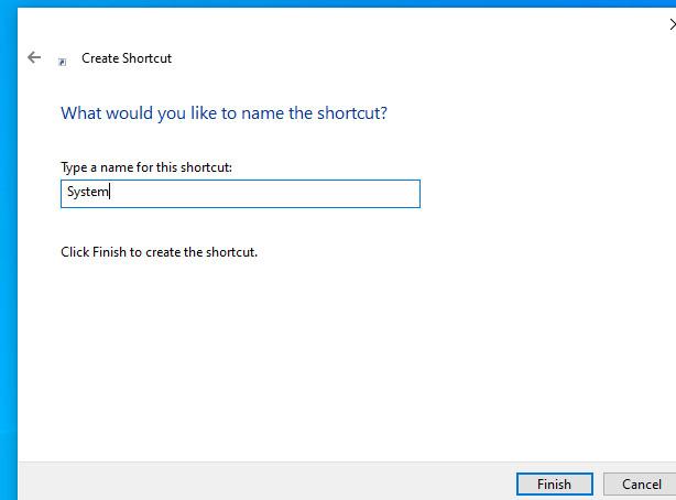 W10 new shortcut