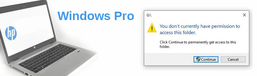 """Fix """"You Dont Have Permission"""" on HP Windows Pro"""